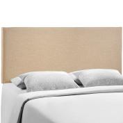 Modway Region Upholstered Linen Headboard Queen Size In Cafe
