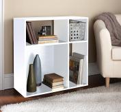 Homestar ES208609A Asymmetrical Cube Storage, White