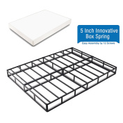 Heavy Duty 13cm Innovative Box Spring/ Strong Steel Structure Mattress Foundation (Easy Assembly by 12 Screws) Queen