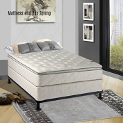 Continental Mattress, Medium Firm Orthopaedic 25cm Fully Assembled Pillow Top Mattress and Box Spring, Full Size