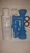 BLUE MAGIC WATERBED FILL and DRAIN KIT with (120ml) WATERBED CONDITIONER