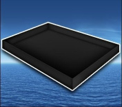 Premium Stand Up Liner Black for Hardside Waterbed Mattress Size