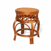 Ginger Handmade Rattan Wicker Stool Fully Assembled Colonial