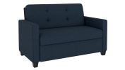 DHP 2156629 Devon Sleeper Sofa, Twin, Blue Linen