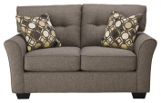 Ashley Furniture Signature Design - Tibbee Loveseat - Contemporary Couch - Sleek Tailored Sofa - Slate