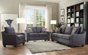 ACME Furniture 53791 Cleavon II Loveseat with 2 Pillows, Grey Linen