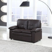 Classic Faux Leather Living Room Sofa Loveseat