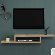 Martin Furniture IMAS360B Asymmetrical Wall Mounted a/V Console, 150cm , Burka Bark