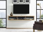 Martin Furniture IMSE360B Floating TV Console, 150cm , Burka Bark