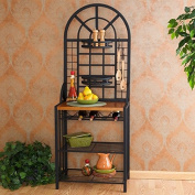 Two Adjustable Basket Shelves Harper Blvd Dome Baker's Rack