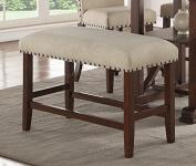 Wood Trim, Cream Seat Cushion 60cm H Seat Bench