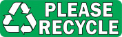 25cm × 7.6cm Please Recycle Sticker Vinyl Recycling Sign Stickers Decal