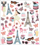 Multicoloured Stickers-Bonjour!