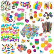 168 Pc Party Favour Toys For Kids - Bulk Party Favours For Boys And Girls - Awesome Toys For Goody Bags, Pinata Fillers or Prizes For Birthday Party Game