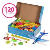 Reca 120 Kids Prizes Party Favours for Kids Party, Birthday Party Toy Assortment , Teachers and Parents Rewards, Carnival Prizes, Pinata Fillers , Stocking Stuffers