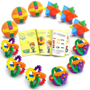 Fun Puzzle Balls with FREE Colourful Instruction Guide by Gamie - Party Games - Fidget Brain Teaser Puzzles - Includes 12 Fun and Challenging Puzzle Balls | Great Educational Toy for kids