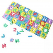 Unetox Baby Mini Puzzle Alphabet Number Play Mat Kid Educational Toy Foam Floor Mat 36pcs