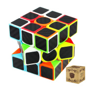 Speed Cube, 3x3x3 Carbon Fibre Stickers Speed Cube Puzzles Easy Turning and Smooth Play Magic Cubes Holiday's Gift, Brain Training Game Toys for Children and Adult Hotweild