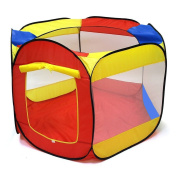 POCO DIVO Hexagon Mesh Ball Pit 110cm Toddler Playpen Indoor Outdoor Twist Pool Kids Popup Play Tent