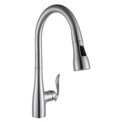 InFurniture Single Handle Pull Out Kitchen Faucet