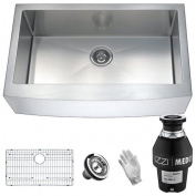 ANZZI Elysian Stainless Steel 80cm x 50cm Farmhouse Kitchen Sink