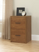 Altra Core 2 Drawer File Cabinet, Bank Adler
