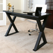 WE Furniture 120cm Storage Computer Desk, Black