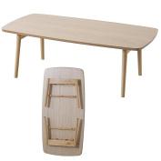 AZUMAYA Wooden Folding Legs Coffee Centre Table BLT-229OAK