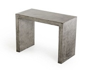 Limari Home The Malika Collection Modern Fibre Reinforced Natural Concrete Bar Table With Acrylic Sealed Finish, Grey
