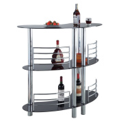 Homegear Contemporary Curved Bar Table