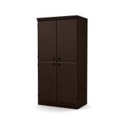 South Shore Morgan 4-Door Storage Cabinet, Chocolate