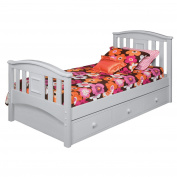 Bolton Furniture 9910850 Bolton Accessory Under Bed Storage 3 Drawer Case, Dove Grey