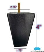 ProFurnitureParts 10cm Inch Espresso Dark Finish Square Tapered Pyramid Wood Sofa Legs Set of 4
