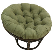 Blazing Needles Solid Microsuede Papasan Chair Cushion, 110cm x 15cm x 110cm , Sage Green