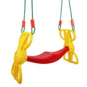 Costzon Back to Back Rider Swing For 2 Kids Glider Seat Children Backyard w/ Hangers