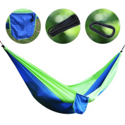 Sunba Youth Double Camping Hammock With Hammock Tree Straps, Lightweight Nylon Portable Parachute Hammock for for Camping, Backpacking, Tavel, Beach, Yard