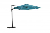 Sunjoy Patio Hanging Umbrella Off Set Outdoor Parasol with Light