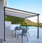 Shatex Shade Panel Block 90% of UV Rays with Ready-tie up Ribbon for Pergola/Greenhouses/Carport/Porch 3.7m x 4.9m Tan