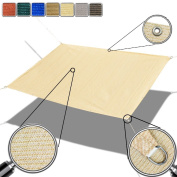 Alion Home Custom Sized Straight Edge Sun Shade Sail with Anti-rust Grommets and Stainless D-rings for Patio, Awning, Garden, Pergola or Gazebo