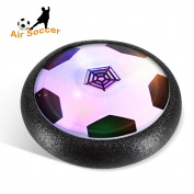 Yimaler Hover Soccer Electronic Air Power Soccer Disc Kids Gift With Powerful LED light and Foam Bumpers for Indoor & Outdoor Games Foot Ball Training