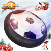Hover Soccer Ball Kids Toys Rolytoy Toy Soccer Ball Size 4 Air Power Electric Disc Training with LED Light and Foam Bumpers Sports Toys Boys Girls for Indoor Outdoor Activities Game