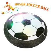 Air Hover Ball with Foam Bumpers and LED Lights, Hover Disc Football for Indoor and Outdoor