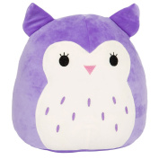 Kellytoy Squishmallow 20cm Holly the Purple Owl Super Soft Plush Toy Pillow Pet