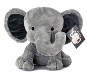 KINREX Elephant Plush - Elephant Stuffed Animal - Baby Toys - Measures 23cm - Grey
