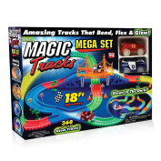 Ontel Magic Tracks Mega Set with 2 LED Race Car and 5.5m of Flexible, Bendable Glow in the Dark Racetrack, As Seen on TV