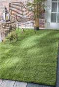 VerdeCasa Realistic Artificial Grass Rug Indoor/Outdoor Decorative Synthetic Grass Turf 3.8cm Pile Height 1.8mx 2.4m
