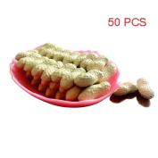 50 Pcs Artificial Peanuts Simulation Nuts Fake Food Home Decorations Plastic Peanuts Decorative Photography Props