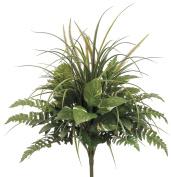 Artificial 60cm Pothos/Grass/Fern Mixed Bush