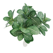 Artificial Shrubs, Crt Gucy 2pcs Artificial Plants Silk Greenery Leaves Tropical Grass Fake Plants For Decoration Green
