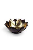 Vagabond Vintage, Gold Leafed Metal Lotus Bowl - Small